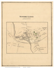 Newport Center, Vermont 1878 Old Town Map Reprint - Orleans Co.