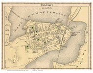 Newport Village, Vermont 1878 Old Town Map Reprint - Orleans Co.