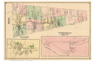Troy Town and South Troy Village, Vermont 1878 Old Town Map Reprint - Orleans Co.