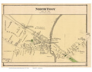 North Troy Village, Vermont 1878 Old Town Map Reprint - Orleans Co.