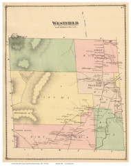 Westfield, Vermont 1878 Old Town Map Reprint - Orleans Co.