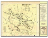 Brandon Village and Business Directory, Vermont 1869 Old Town Map Reprint - Rutland Co.