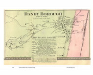 Danby Borough Village, Vermont 1869 Old Town Map Reprint - Rutland Co.