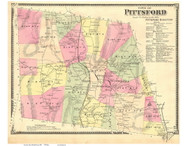 Pittsford, Vermont 1869 Old Town Map Reprint - Rutland Co.