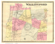 Wallingford, Vermont 1869 Old Town Map Reprint - Rutland Co.