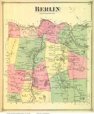 Berlin, Vermont 1873 Old Town Map Reprint - Washington Co.