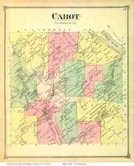 Cabot, Vermont 1873 Old Town Map Reprint - Washington Co.