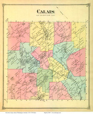 Calais, Vermont 1873 Old Town Map Reprint - Washington Co.