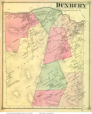 Duxbury, Vermont 1873 Old Town Map Reprint - Washington Co.
