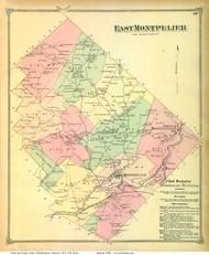 East Montpelier, Vermont 1873 Old Town Map Reprint - Washington Co.