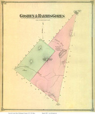 Goshen Gore and Harris Gore, Vermont 1873 Old Town Map Reprint - Washington Co.