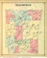Marshfield, Vermont 1873 Old Town Map Reprint - Washington Co.