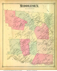 Middlesex, Vermont 1873 Old Town Map Reprint - Washington Co.