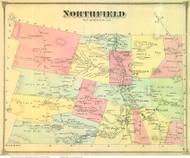 Northfield, Vermont 1873 Old Town Map Reprint - Washington Co.