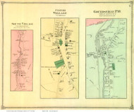 South Village, Centre Village, and Gouldsville P.O. - Northfield, Vermont 1873 Old Town Map Reprint - Washington Co.
