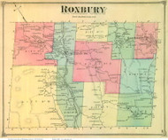 Roxbury, Vermont 1873 Old Town Map Reprint - Washington Co.