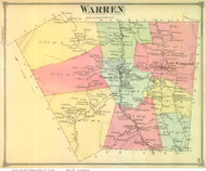Warren, Vermont 1873 Old Town Map Reprint - Washington Co.