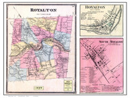 Royalton Poster Map, 1869 Old Town Map Custom Print - Windsor Co. VT
