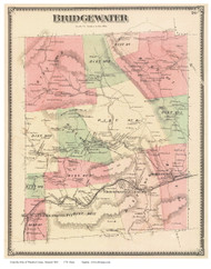 Bridgewater, Vermont 1869 Old Town Map Reprint - Windsor Co.