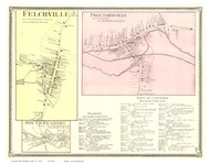 Cavendish, Perkinsville, and Ascutneyville Villages, Vermont 1869 Old Town Map Reprint - Windsor Co.