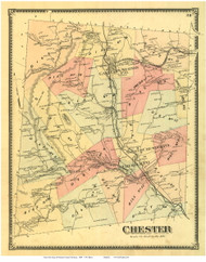 Chester, Vermont 1869 Old Town Map Reprint - Windsor Co.