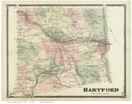 Hartford, Vermont 1869 Old Town Map Reprint - Windsor Co.