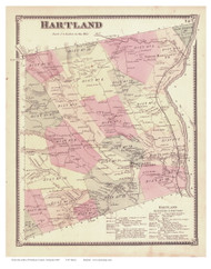 Hartland , Vermont 1869 Old Town Map Reprint - Windsor Co.