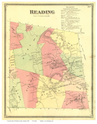 Reading, Vermont 1869 Old Town Map Reprint - Windsor Co.