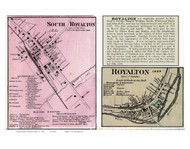 Royalton and South Royalton Villages (Custom), Vermont 1869 Old Town Map Reprint - Windsor Co.