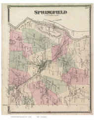 Springfield, Vermont 1869 Old Town Map Reprint - Windsor Co.