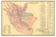 Springfield Village, Vermont 1869 Old Town Map Reprint - Windsor Co.
