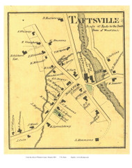 Taftsville Village (Custom) - Woodstock, Vermont 1869 Old Town Map Reprint - Windsor Co.