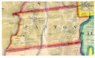 Panton, Vermont 1857 Old Town Map Custom Print - Addison Co.