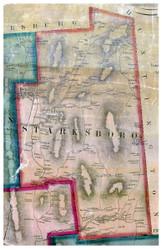 Starksboro, Vermont 1857 Old Town Map Custom Print - Addison Co.