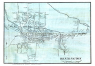 Bennington Village, Vermont 1856 Old Town Map Custom Print - Bennington Co.