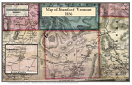 Stamford Poster, Vermont 1856 Old Town Map Custom Print - Bennington Co.