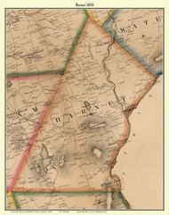 Barnet, Vermont 1858 Old Town Map Custom Print - Caledonia Co.