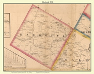 Hardwick, Vermont 1858 Old Town Map Custom Print - Caledonia Co.