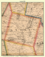 Lyndon, Vermont 1858 Old Town Map Custom Print - Caledonia Co.