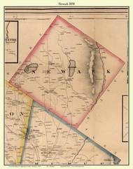 Newark, Vermont 1858 Old Town Map Custom Print - Caledonia Co.