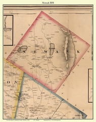 Newark, Vermont 1858 Old Town Map Custom Print - Caledonia Co.