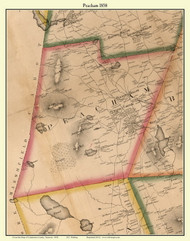Peacham, Vermont 1858 Old Town Map Custom Print - Caledonia Co.