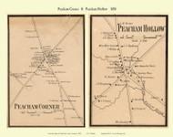 Peacham Corner and Peacham Hollow Villages, Vermont 1858 Old Town Map Custom Print - Caledonia Co.