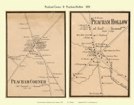 Peacham Corner and Peacham Hollow Villages, Vermont 1858 Old Town Map Custom Print - Caledonia Co.