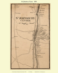 St. Johnsbury Center, Vermont 1858 Old Town Map Custom Print - Caledonia Co.