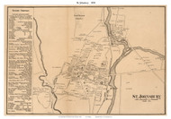 St. Johnsbury Downtown, Vermont 1858 Old Town Map Custom Print - Caledonia Co.