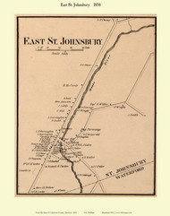 East St. Johnsbury, Vermont 1858 Old Town Map Custom Print - Caledonia Co.