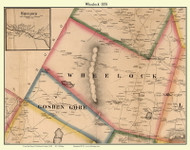 Wheelock and Wheelock Village, Vermont 1858 Old Town Map Custom Print - Caledonia Co.