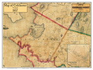 Colchester Poster Map, 1857 Old Town Map Custom Print - Chittenden Co. VT