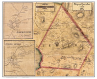 Jericho Poster Map, 1857 Old Town Map Custom Print - Chittenden Co. VT